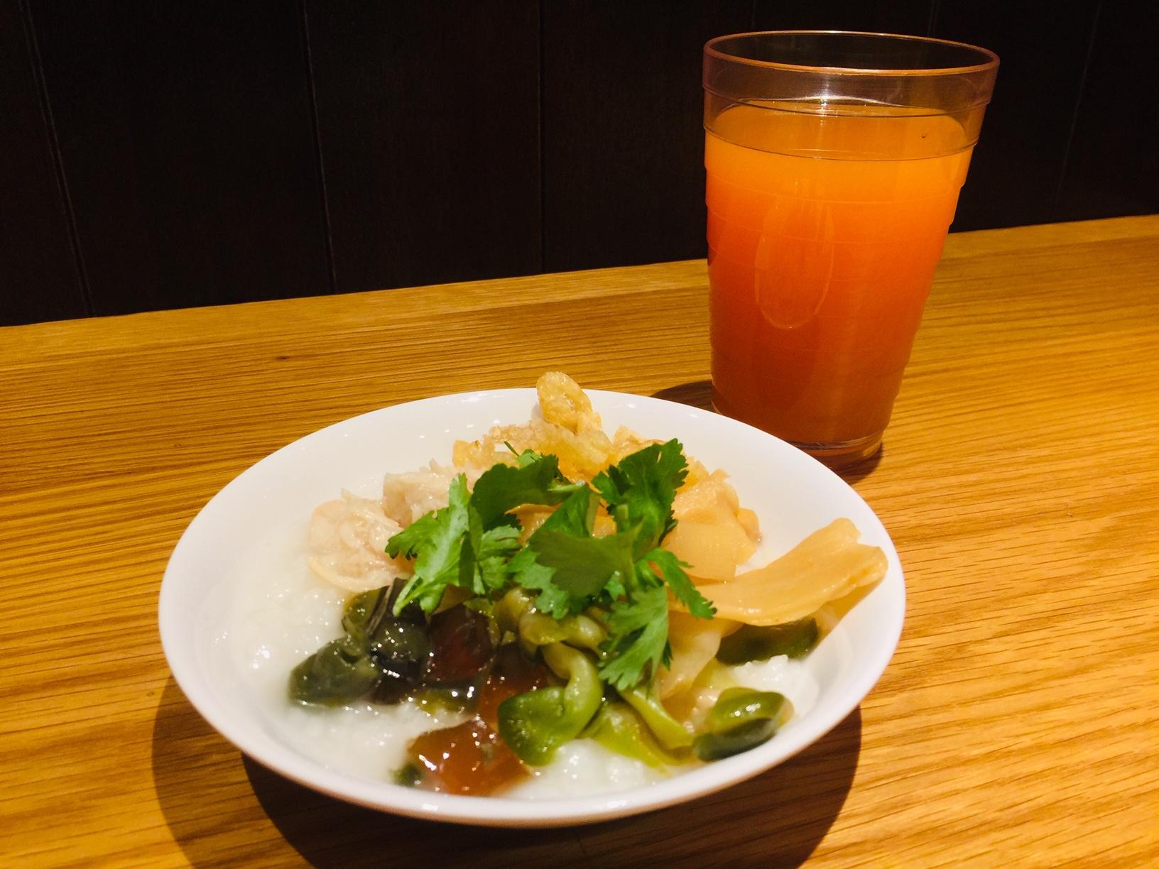 【朝食】『本格中華粥』を追加いたしました♪