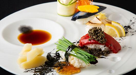 九州野菜を使用したこだわりの野菜寿司