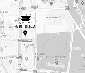金沢の中心、周辺にはショッピング・レジャースポット多数