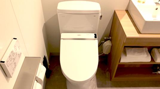温水洗浄ウォシュレット付きトイレ