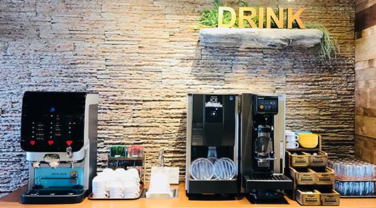 香ばしいかおり薫るコーヒーマシン