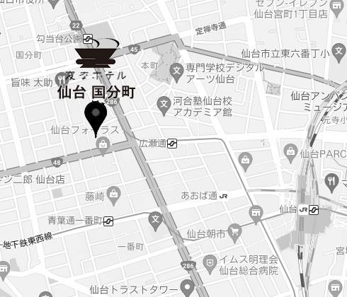 地下鉄「広瀬通」から徒歩1分の好立地!