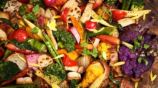 ランチブッフェのロースト野菜